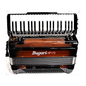 BUGARI EVO HARIA P41 WOODEN V-accordion (Roland FR-8x)
