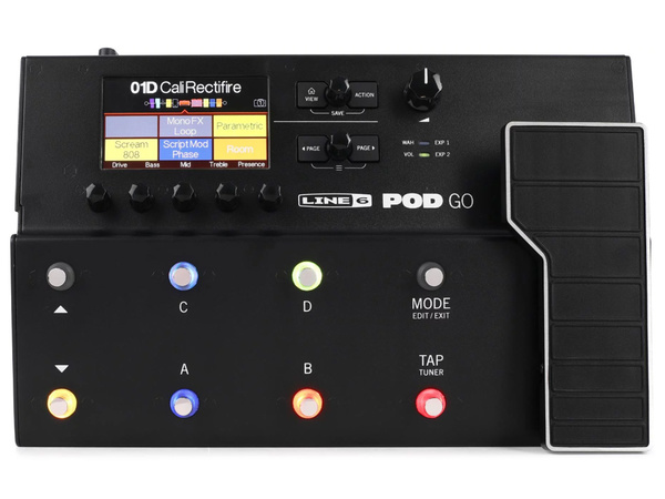 LINE 6 POD GO Multi Effects Pedal for Electric Guitar