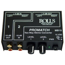 ROLLS PROMATCH MB15 two-way stereo converter